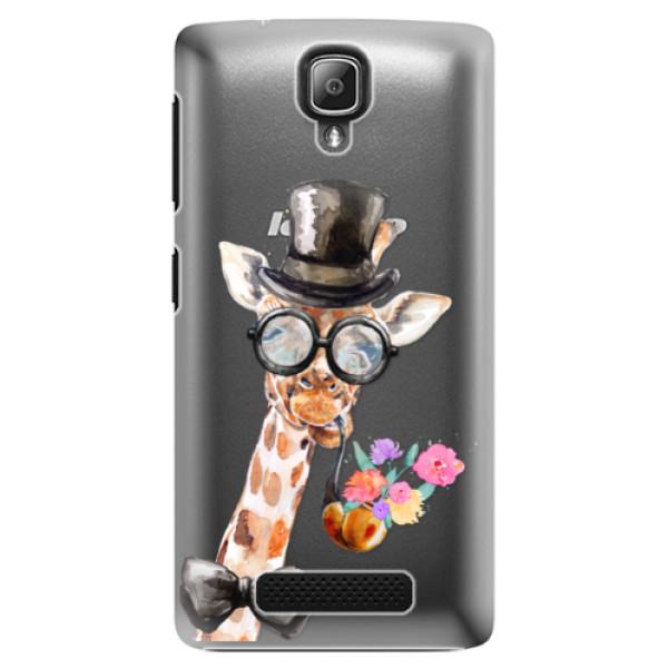 Plastové pouzdro iSaprio - Sir Giraffe - Lenovo A1000