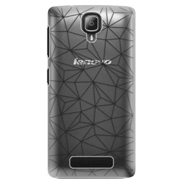 Plastové pouzdro iSaprio - Abstract Triangles 03 - black - Lenovo A1000