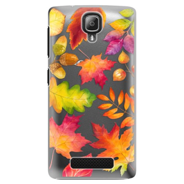 Plastové pouzdro iSaprio - Autumn Leaves 01 - Lenovo A1000