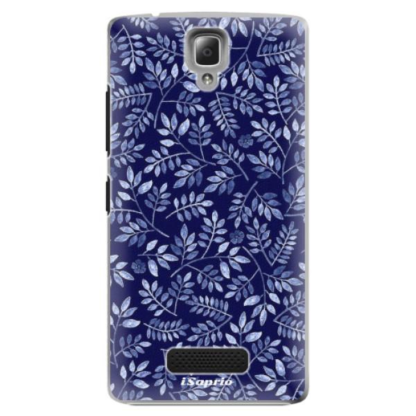 Plastové pouzdro iSaprio - Blue Leaves 05 - Lenovo A2010