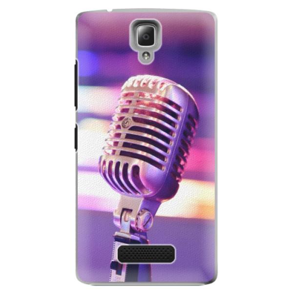 Plastové pouzdro iSaprio - Vintage Microphone - Lenovo A2010