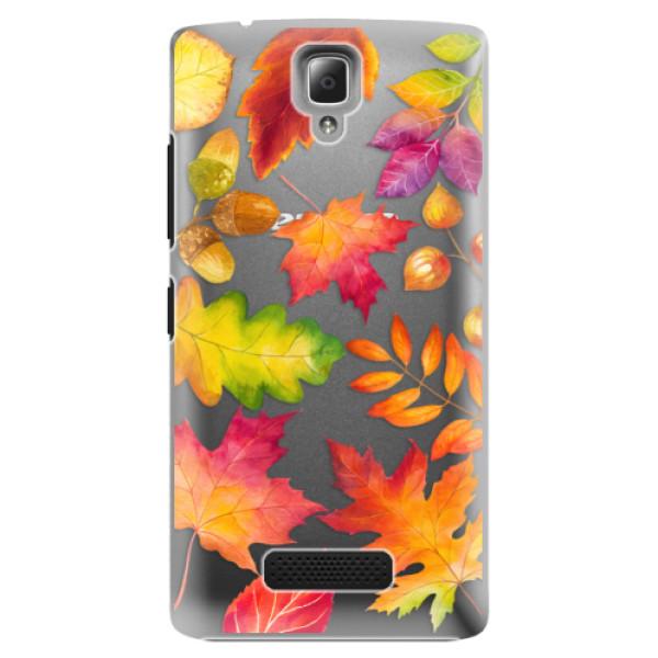 Plastové pouzdro iSaprio - Autumn Leaves 01 - Lenovo A2010