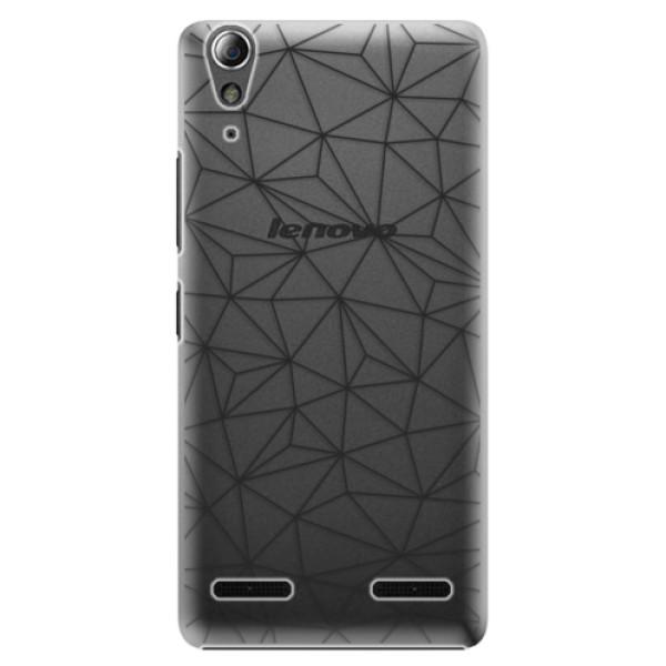 Plastové pouzdro iSaprio - Abstract Triangles 03 - black - Lenovo A6000 / K3