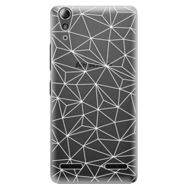 Plastové pouzdro iSaprio - Abstract Triangles 03 - white - Lenovo A6000 / K3