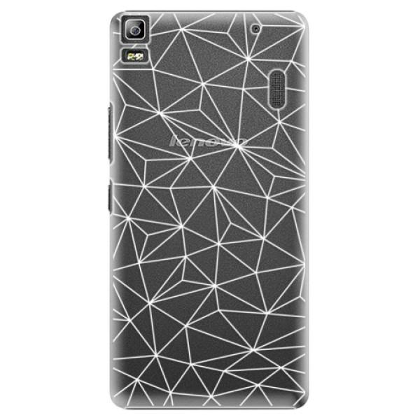 Plastové pouzdro iSaprio - Abstract Triangles 03 - white - Lenovo A7000