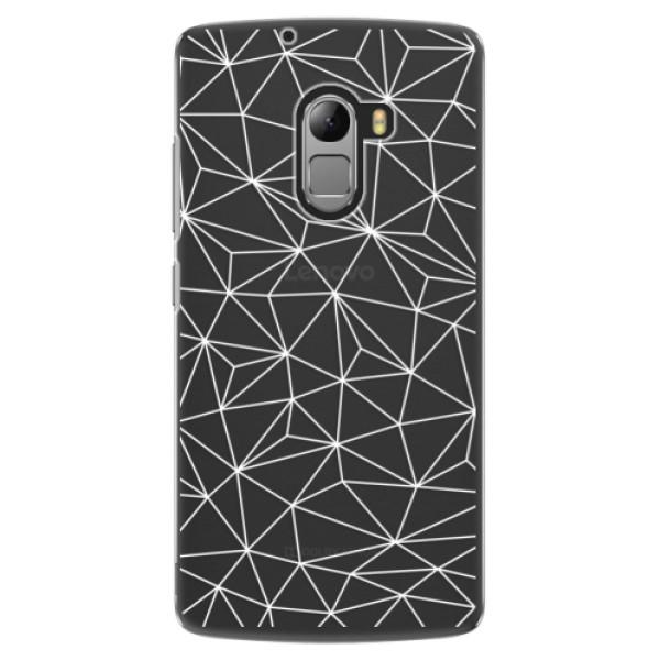Plastové pouzdro iSaprio - Abstract Triangles 03 - white - Lenovo A7010
