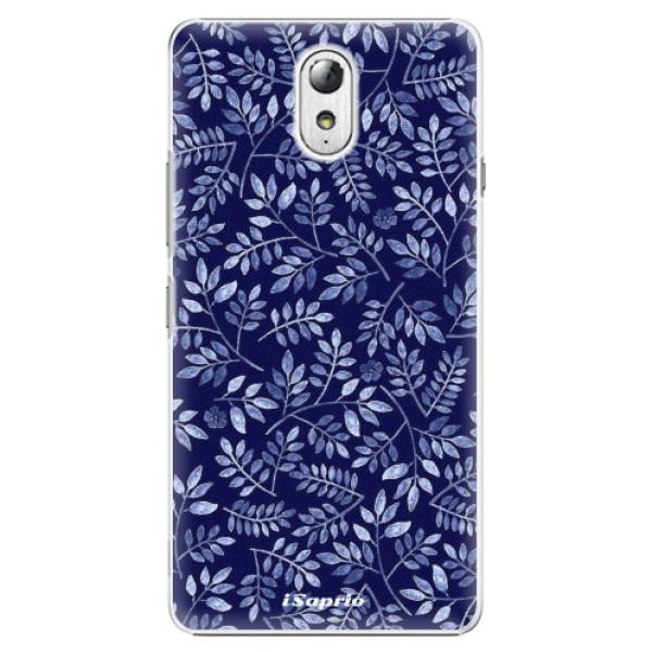 Plastové pouzdro iSaprio - Blue Leaves 05 - Lenovo P1m