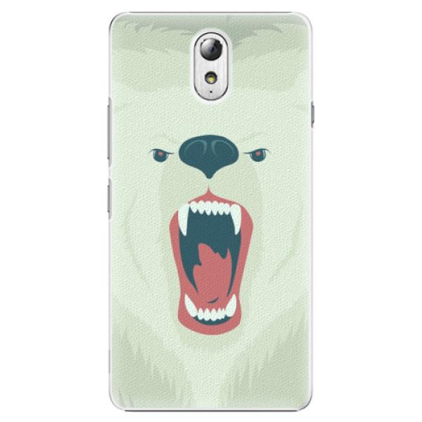Plastové pouzdro iSaprio - Angry Bear - Lenovo P1m
