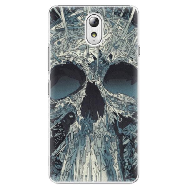 Plastové pouzdro iSaprio - Abstract Skull - Lenovo P1m
