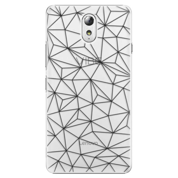 Plastové pouzdro iSaprio - Abstract Triangles 03 - black - Lenovo P1m