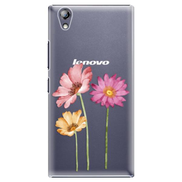 Plastové pouzdro iSaprio - Three Flowers - Lenovo P70