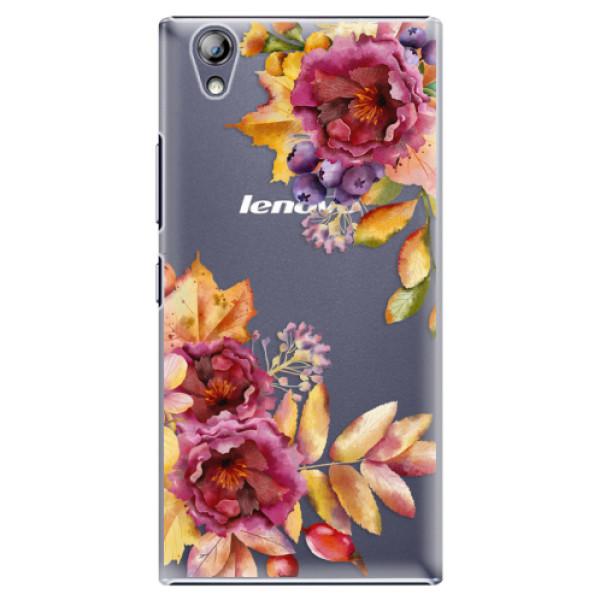 Plastové pouzdro iSaprio - Fall Flowers - Lenovo P70