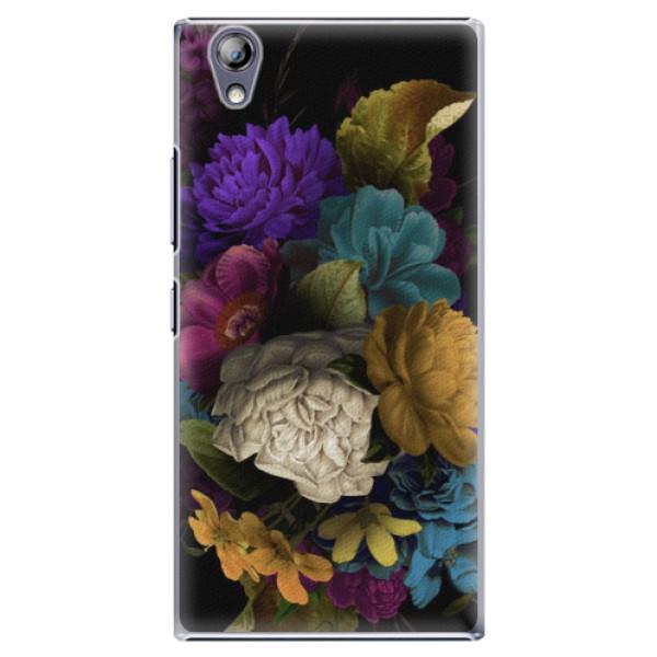 Plastové pouzdro iSaprio - Dark Flowers - Lenovo P70