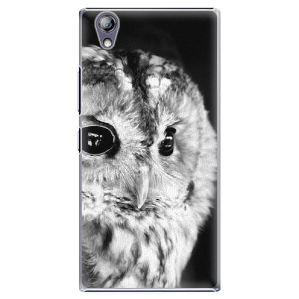 Plastové pouzdro iSaprio - BW Owl - Lenovo P70