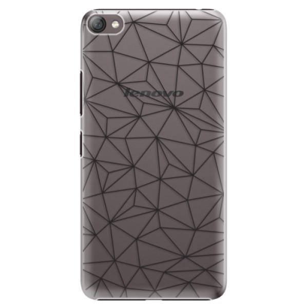 Plastové pouzdro iSaprio - Abstract Triangles 03 - black - Lenovo S60