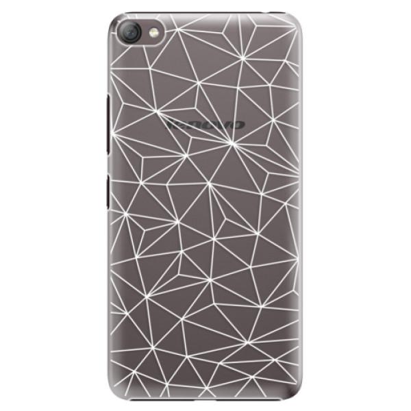 Plastové pouzdro iSaprio - Abstract Triangles 03 - white - Lenovo S60