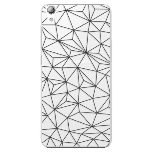 Plastové pouzdro iSaprio - Abstract Triangles 03 - black - Lenovo S850