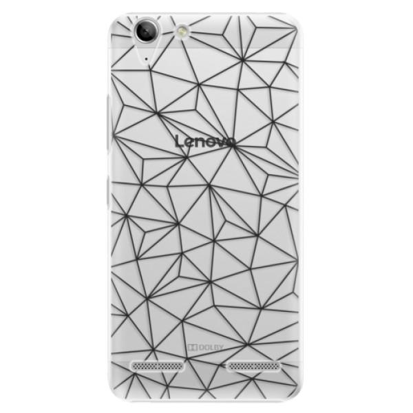 Plastové pouzdro iSaprio - Abstract Triangles 03 - black - Lenovo Vibe K5