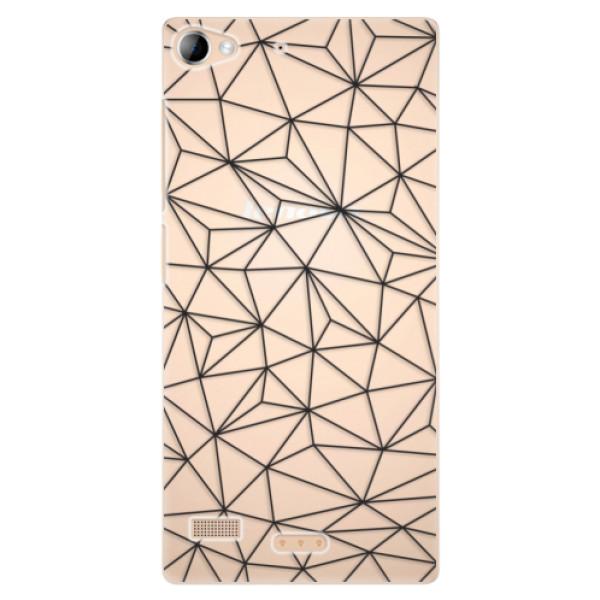 Plastové pouzdro iSaprio - Abstract Triangles 03 - black - Lenovo Vibe X2