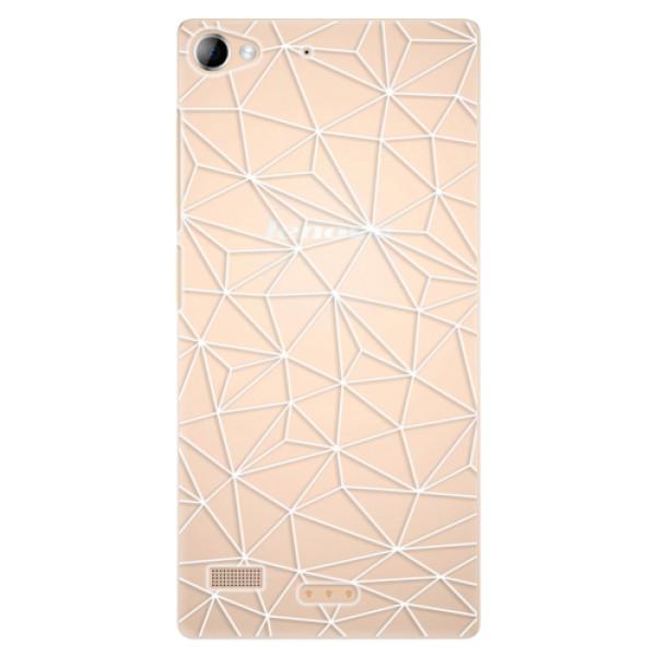 Plastové pouzdro iSaprio - Abstract Triangles 03 - white - Lenovo Vibe X2