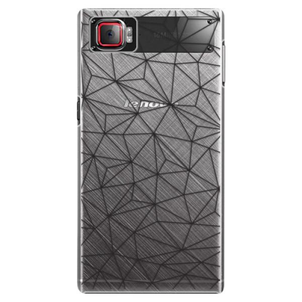 Plastové pouzdro iSaprio - Abstract Triangles 03 - black - Lenovo Z2 Pro