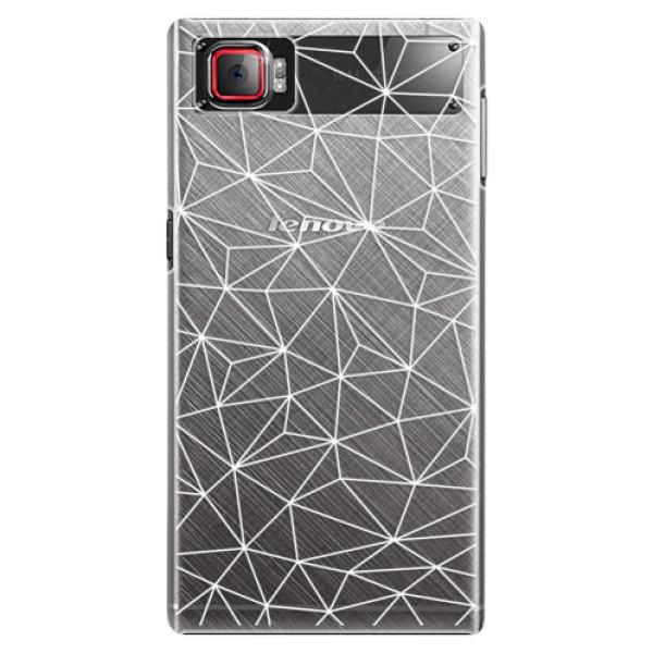Plastové pouzdro iSaprio - Abstract Triangles 03 - white - Lenovo Z2 Pro