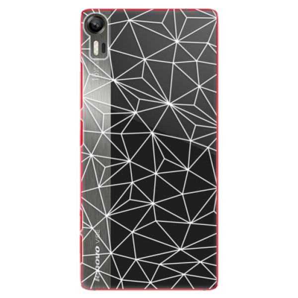 Plastové pouzdro iSaprio - Abstract Triangles 03 - white - Lenovo Vibe Shot