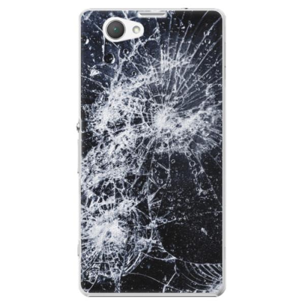 Plastové pouzdro iSaprio - Cracked - Sony Xperia Z1 Compact
