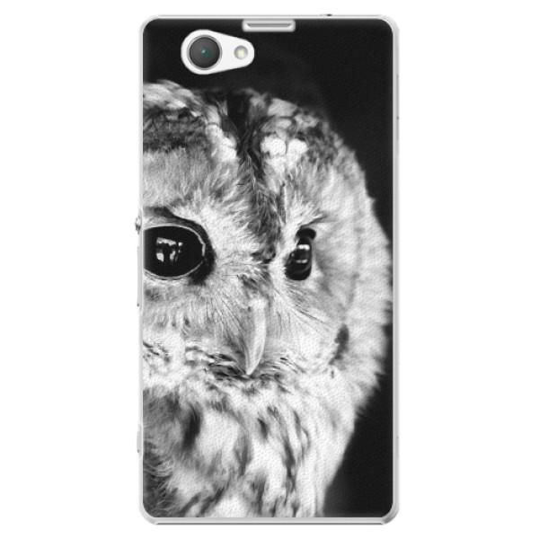 Plastové pouzdro iSaprio - BW Owl - Sony Xperia Z1 Compact