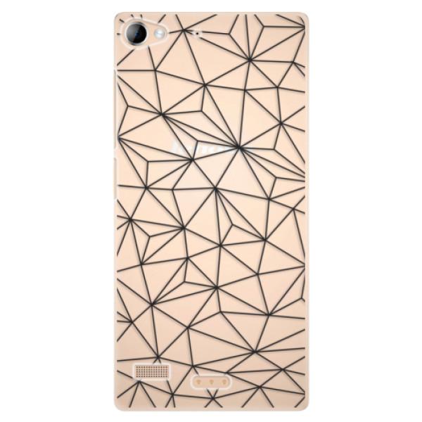 Plastové pouzdro iSaprio - Abstract Triangles 03 - black - Sony Xperia Z2