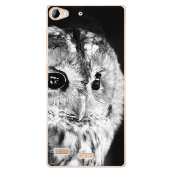 Plastové pouzdro iSaprio - BW Owl - Sony Xperia Z2