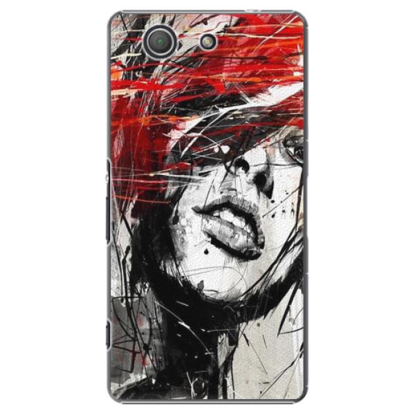 Plastové pouzdro iSaprio - Sketch Face - Sony Xperia Z3 Compact