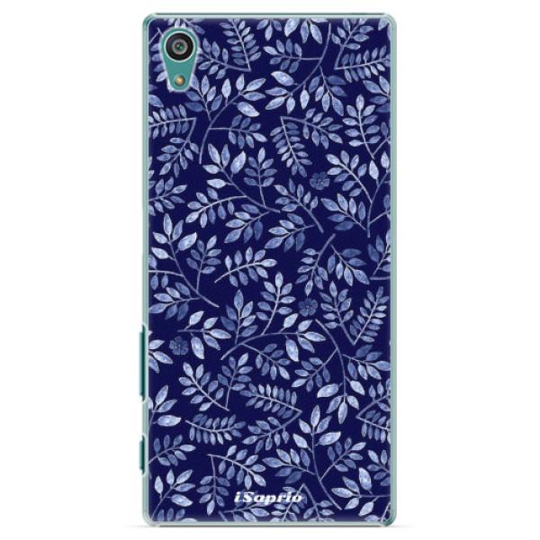 Plastové pouzdro iSaprio - Blue Leaves 05 - Sony Xperia Z5