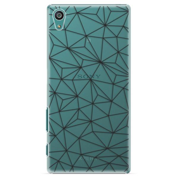 Plastové pouzdro iSaprio - Abstract Triangles 03 - black - Sony Xperia Z5