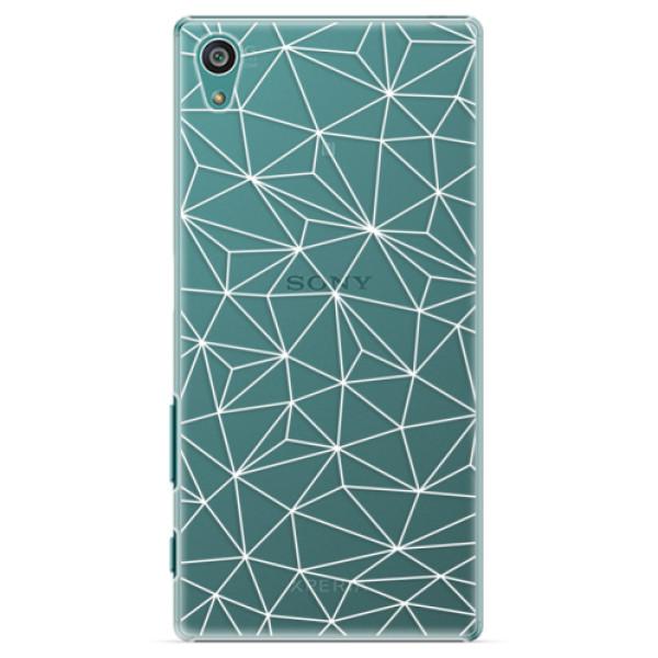 Plastové pouzdro iSaprio - Abstract Triangles 03 - white - Sony Xperia Z5