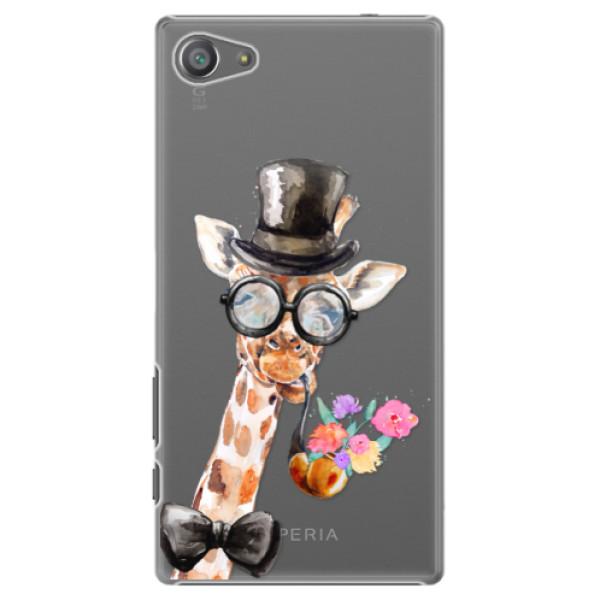 Plastové pouzdro iSaprio - Sir Giraffe - Sony Xperia Z5 Compact