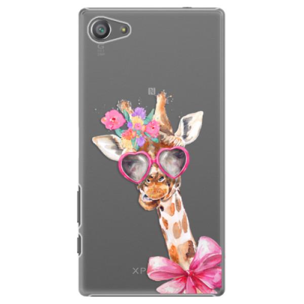 Plastové pouzdro iSaprio - Lady Giraffe - Sony Xperia Z5 Compact
