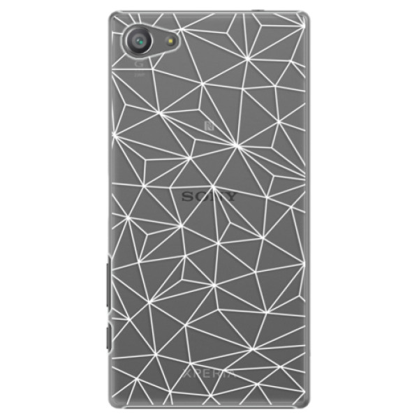 Plastové pouzdro iSaprio - Abstract Triangles 03 - white - Sony Xperia Z5 Compact