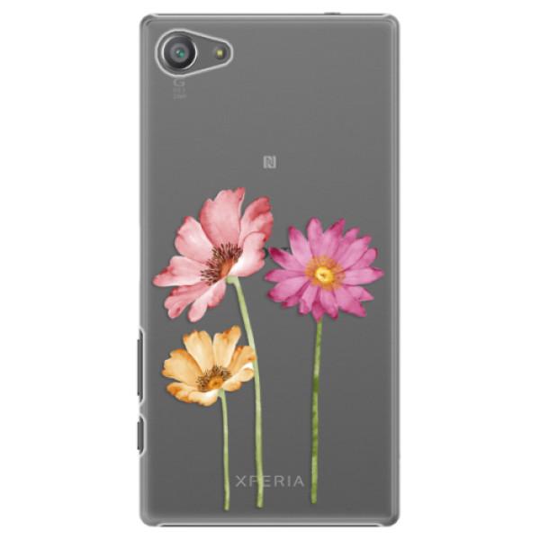 Plastové pouzdro iSaprio - Three Flowers - Sony Xperia Z5 Compact