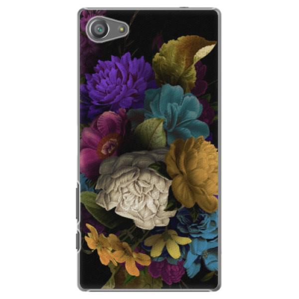 Plastové pouzdro iSaprio - Dark Flowers - Sony Xperia Z5 Compact