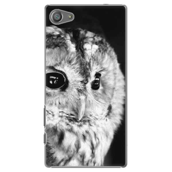 Plastové pouzdro iSaprio - BW Owl - Sony Xperia Z5 Compact