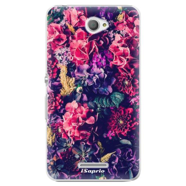 Plastové pouzdro iSaprio - Flowers 10 - Sony Xperia E4