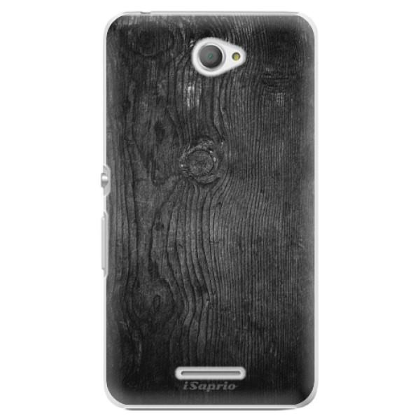 Plastové pouzdro iSaprio - Black Wood 13 - Sony Xperia E4