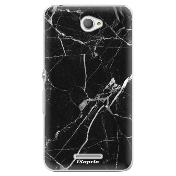 Plastové pouzdro iSaprio - Black Marble 18 - Sony Xperia E4