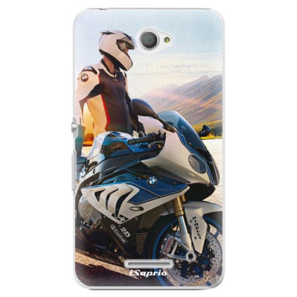 Plastové pouzdro iSaprio - Motorcycle 10 - Sony Xperia E4