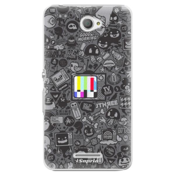Plastové pouzdro iSaprio - Text 03 - Sony Xperia E4