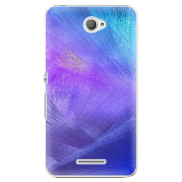 Plastové pouzdro iSaprio - Purple Feathers - Sony Xperia E4