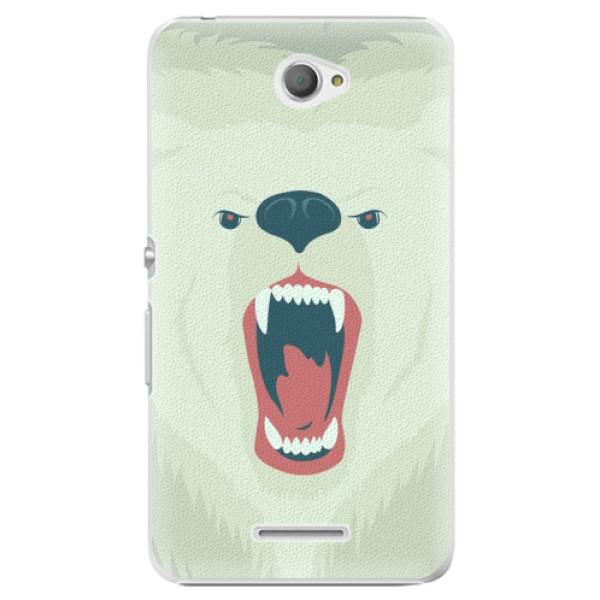 Plastové pouzdro iSaprio - Angry Bear - Sony Xperia E4