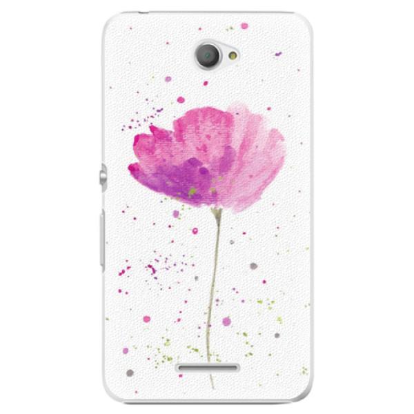 Plastové pouzdro iSaprio - Poppies - Sony Xperia E4