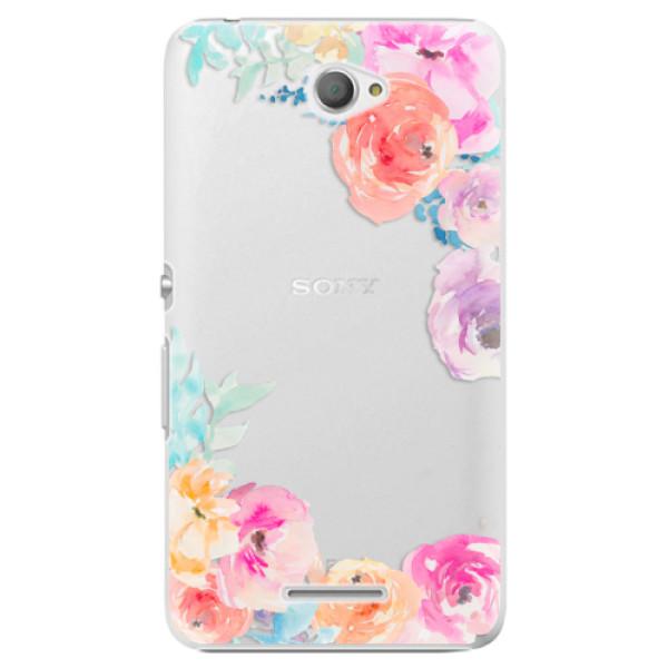 Plastové pouzdro iSaprio - Flower Brush - Sony Xperia E4